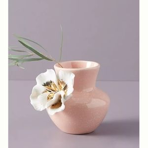 NWT Anthropologie Orchid Ceramic Bloom Vase